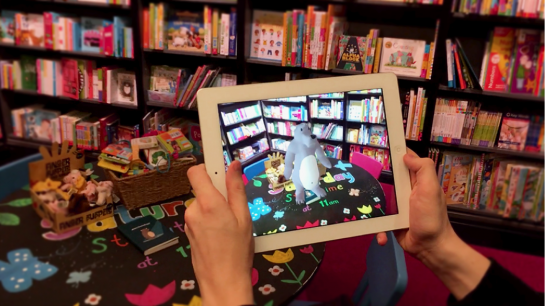 An example of how AR could transform bookstores, imagined during Big Motive's design lab.